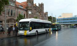 Fuel cell bus De Lijn (Antwerp) visits Haarlem (Netherlands)